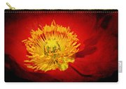 Bright Yellow Poppy Center Carry-all Pouch