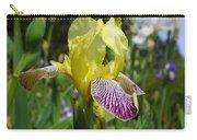 Bright Yellow Purple Iris Flower Irises Carry-all Pouch