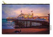 Brighton's Palace Pier At Dusk Carry-all Pouch