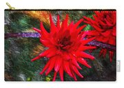 Brilliance In An Autumn Garden - Red Dahlia Carry-all Pouch