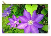 Brilliant Blue Clematis Carry-all Pouch