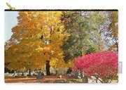 Brilliant Colors In The Cemetery  Carry-all Pouch
