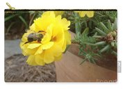 Brilliant Rose Flower With Buzzy Bee Carry-all Pouch