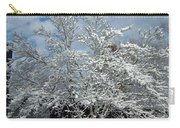 Brilliant Snow Coated Tree Carry-all Pouch