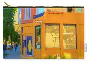 Bring Your Own Wine Restaurant Vents Du Sud Rue Roy Corner French Cafe Street Scene Carole Spandau Carry-all Pouch