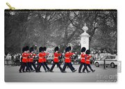 British Royal Guards March And Perform The Changing Of The Guard In Buckingham Palace Carry-all Pouch