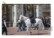 British Royal Guards Perform The Changing Of The Guard In Buckingham Palace Carry-all Pouch