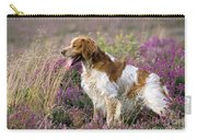 Brittany Dog, Standing In Heather, Side Carry-all Pouch