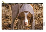 Brittany Spaniel Pixel's Pointed Woodcock Carry-all Pouch