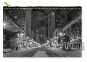 Broad Street At Night In Black And White Carry-all Pouch