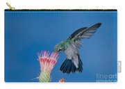 Broadbill Hummingbird Feeding At Flower Carry-all Pouch