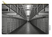 Broadway Walkway In Alcatraz Prison Carry-all Pouch by RicardMN Photography