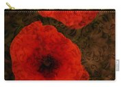 Brocade Textured Poppies Carry-all Pouch