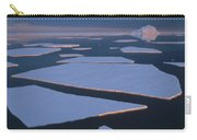Broken Fast Ice Under Midnight Sun East Carry-all Pouch