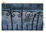 Broken Iron Fence By Old House Carry-all Pouch