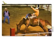 Bronc Bucking Out The Gate Carry-all Pouch