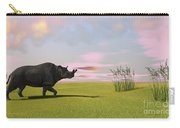 Brontotherium Grazing In Prehistoric Carry-all Pouch
