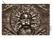 Bronze Lion Head And Ring On The Main Door Of The Town Hall In Dubrovnik Sepia Carry-all Pouch