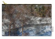 Brook And Bare Trees - Winter - Steel Engraving Carry-all Pouch