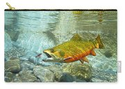 Brook Trout And Artificial Fly Carry-all Pouch