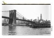 Brooklyn Bridge And Ny Skyline Carry-all Pouch