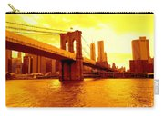 Brooklyn Bridge In Yellow Carry-all Pouch