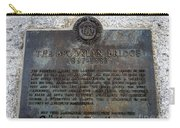 Brooklyn Bridge Plaque Carry-all Pouch