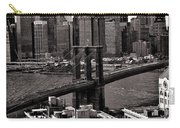 Brooklyn Bridge View In Sepia Carry-all Pouch