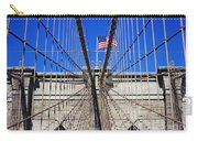 Brooklyn Bridge With American Flag Carry-all Pouch