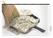 Broom Sweeping Up American Currency Carry-all Pouch