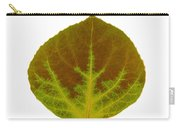 Brown And Green Aspen Leaf 4 Carry-all Pouch