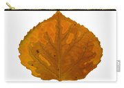 Brown And Orange Aspen Leaf 1 Carry-all Pouch