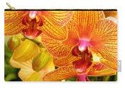 Smiling Brown And Pink Orchids Carry-all Pouch