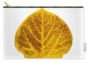 Brown And Yellow Aspen Leaf 2 Carry-all Pouch