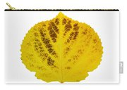 Brown And Yellow Aspen Leaf 3 Carry-all Pouch