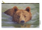 Brown Bear Painting Carry-all Pouch