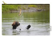 Brown Bear Playing With A Bone Carry-all Pouch
