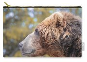 Brown Bear Portrait In Autumn Carry-all Pouch