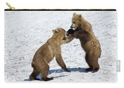 Brown Bear Ursus Arctos Cubs Play Carry-all Pouch