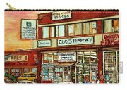 Brown Derby Van Horne Shopping Center Clay's Pharmacy Montreal Paintings City Scenes Carole Spandau Carry-all Pouch