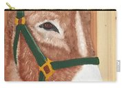 Brown Donkey On Cedar Carry-all Pouch