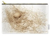 Brown Egg In Bird Nest Sepia Carry-all Pouch