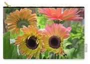 Brown Eyed Gerbera Daisies Carry-all Pouch