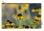 Brown Eyed Susans On Yellow And Green Carry-all Pouch