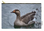 Brown Feathered Goose Carry-all Pouch