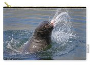 Brown Fur Seal Throwing A Fish Head Carry-all Pouch