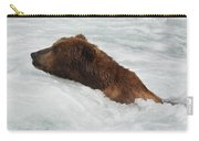 Brown Grizzly Bear Swimming  Carry-all Pouch