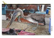 Brown Pelican At The Fish Market Carry-all Pouch