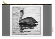 Brown Pelican - Black And White Carry-all Pouch