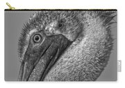Brown Pelican In Black And White Carry-all Pouch